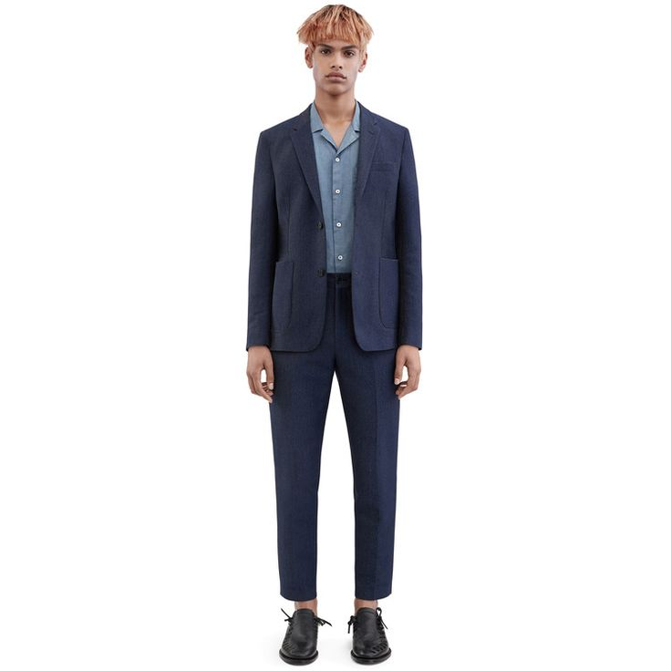 Acne Studios Stan trousers nylon twill denim blue is a hybrid between a chino and suiting pant.