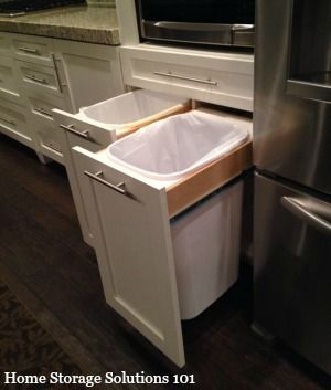 hidden kitchen trash cans featured on home storage solutions 101 - Kitchen Trash Can Ideas