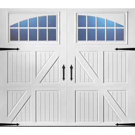 Pella Carriage House Series 96-In X 84-In White Single Garage Door Wit