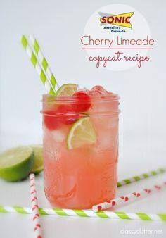Sonic Cherry Limeade Sonic Cherry Limeade Copycat Recipe - this...  Sonic Cherry Limeade Sonic Cherry Limeade Copycat Recipe - this is so yummy!   www.classyclutter Recipe : http://ift.tt/1hGiZgA And @ItsNutella  http://ift.tt/2v8iUYW