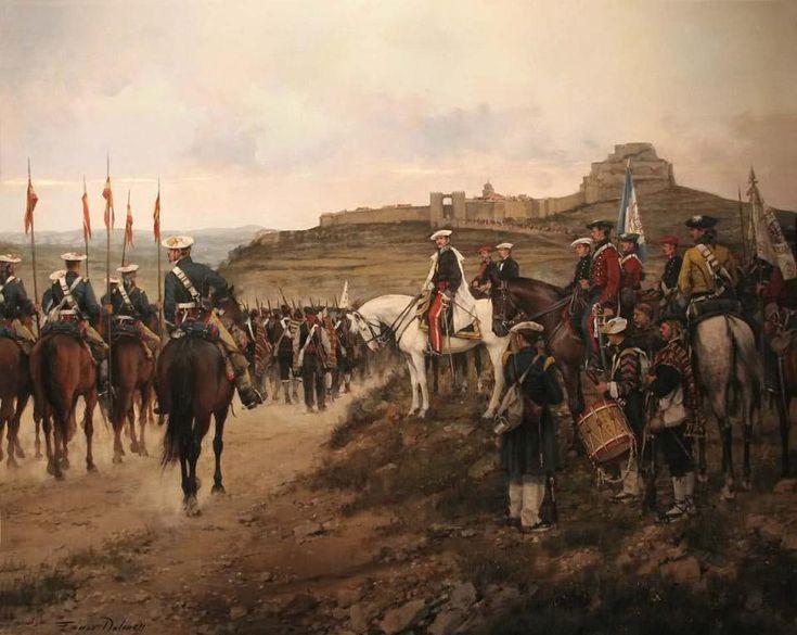 General Cabrera en Morella, obra de Augusto Ferrer-Dalmau