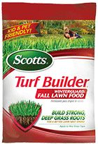Builds strong, deep grass roots for a better lawn next spring.  Provides nutrients to help repair damage from summer heat, drought, and activity.  Kid and pet friendly when applied as directed.  Recommended in Fall as part of the Scotts Lawn Care Plan.  Apply to any grass type