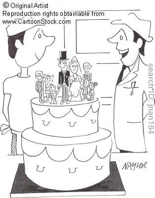 Haha Blended Family Wedding Cake