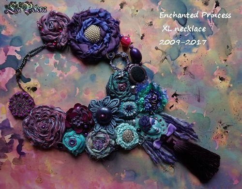 https://flic.kr/p/TxrbGN | ENCHANTED PRINCESS XL necklace | 2009-2017 Venetian mask jewelry by La Polena. Wearable Art