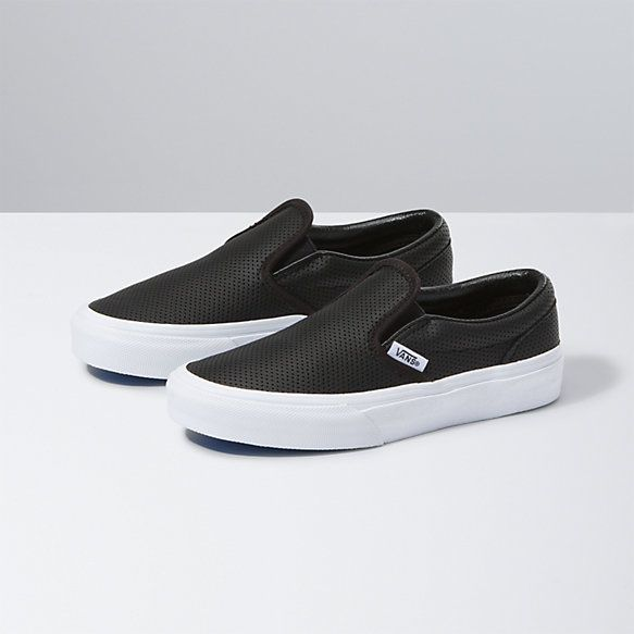 Leather slip ons, Girls shoes