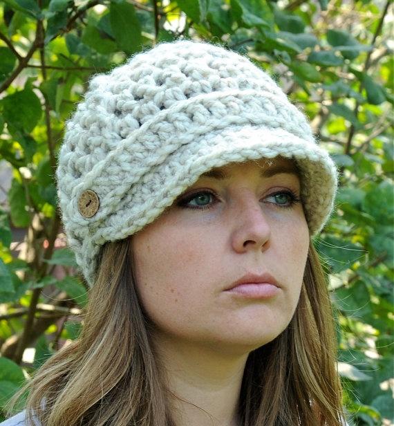 Crochet Newsboy Hat for Women Crochet Hat