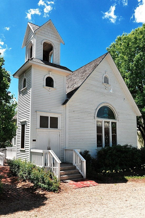 Built in 1880, Everest Church at Old Prairie Town, Topeka, KS