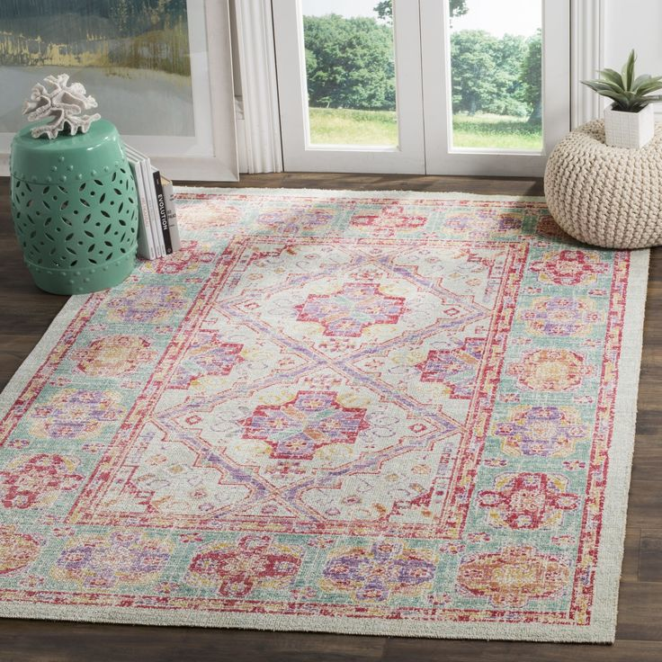 Bungalow Rose™ Chauncey Spa/Fuchsia Area Rug