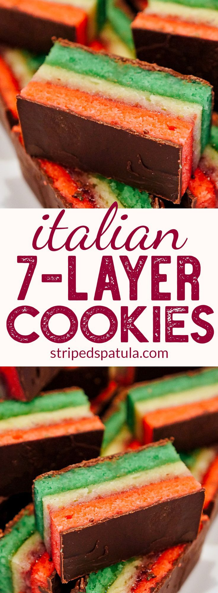 Italian 7 Layer Cookies  | Posted By: DebbieNet.com