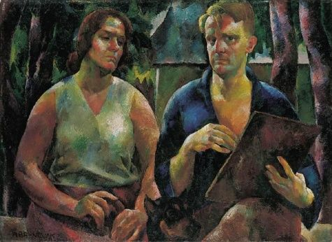 Double Portrait (The Artist and His Wife) - Vilmos Aba-Novak