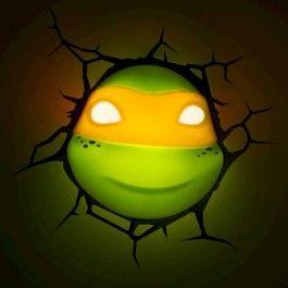 Teenage Mutant Ninja Turtles 3D Wall Art Nightlight - Michelangelo