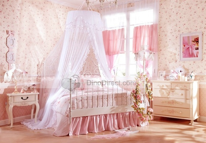 All images of Wholesale Ounuo Best Girls Cute Hanging Ruffle Round Princess Bed Canopy Tent for Sale - DinoDirect.com