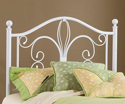 Bergshoeff Textured White Twin Bed Headboard FurnitureMaxx