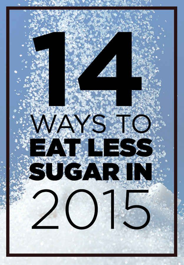 Some great guidelines for monitoring sugar you take in each day!! 14 Ways To Eat Less Sugar In 2015