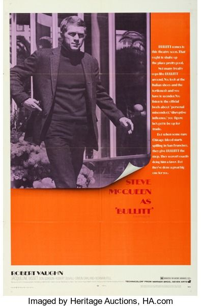 "Movie Posters:Crime, Bullitt (Warner Brothers, 1968). One Sheet (27"" X 41"").. ..."
