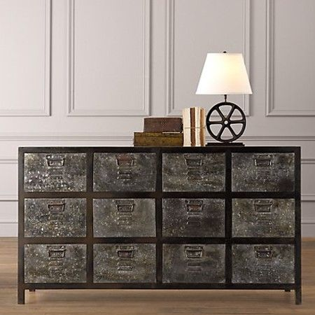 restoration hardware, industrial kids furniture.  love kid-space