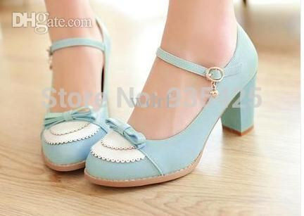 Sweet Bow Pumps Fashion Cute Preppy Style Sandals Thick Heel Summer Single Shoes Small Yard 32 33 Hasp Women Mule Large Size 45 Purple Shoes Cute Shoes From Wdrf, $47.2  Dhgate.Com