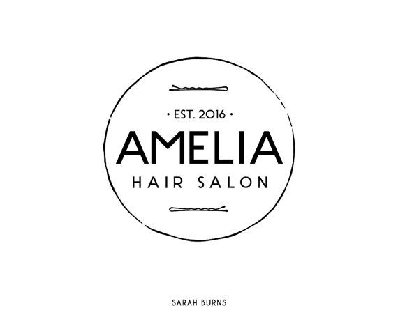 Premade Logo Design, Beauty Salon Logo, Boutique Logo, Pre-made Hair Stylist Logo, Premade Hair Salon Logo, Hair and Beauty, Bobby Pin Logo