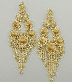 Statement Crystal Fringe Pageant Earrings