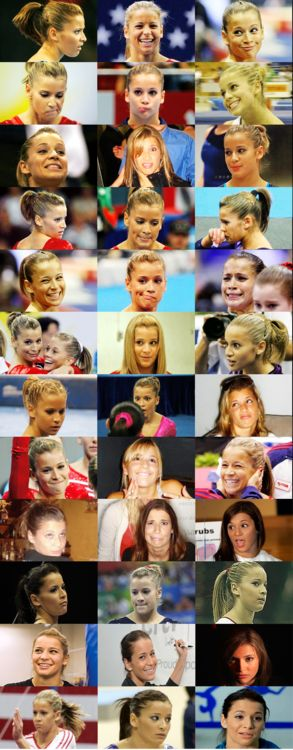 The many faces of Alicia Sacramone