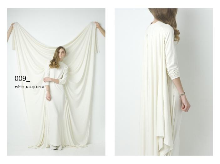 Natsumi Zama - white jersey dress