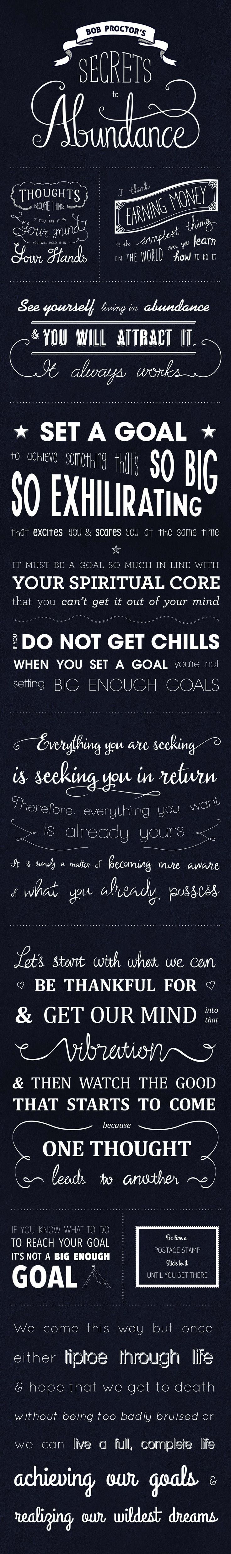 ••Bob Proctor•• Law Of Attraction 2014 - best quotes on Secrets to Abundance (poster by MindValleyAcademy)