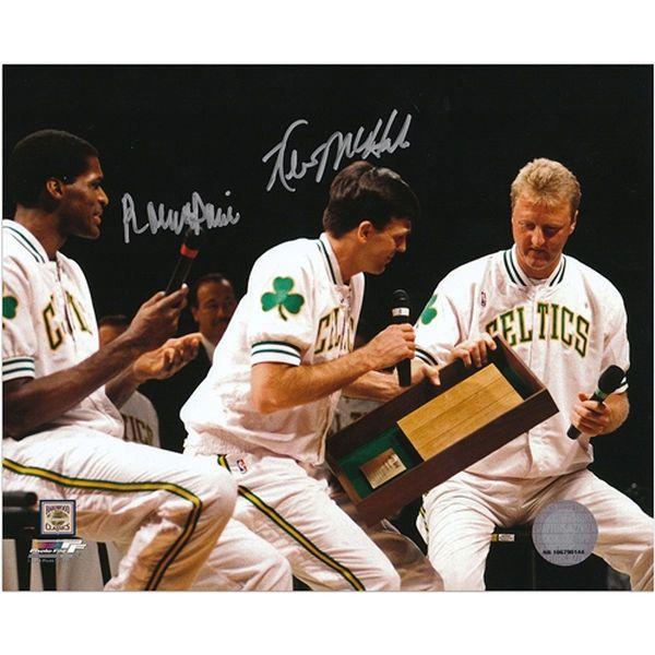 """Kevin McHale, Robert Parish Boston Celtics Fanatics Authentic Autographed 8"""" x 10"""" Larry Bird Retirement Photograph - $122.99"""