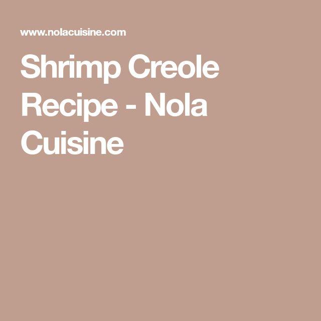 Shrimp Creole Recipe - Nola Cuisine
