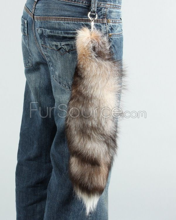 Crystal Fox Fur Tail Keychain. I know it seems terrible. But I love it anyway.