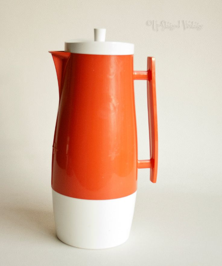 Vintage Retro 1960s/70s ORANGE Pitcher Jug ALADDIN Thermos Flask by UpStagedVintage on Etsy