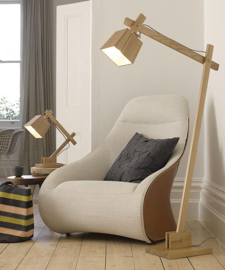 Norway Floor Lamp in Teak