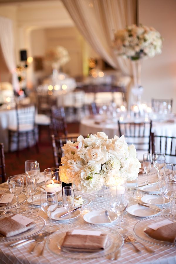 Blush And Ivory Reception Receptions Floral