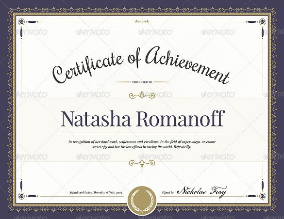 Award Certificate Template Photoshop