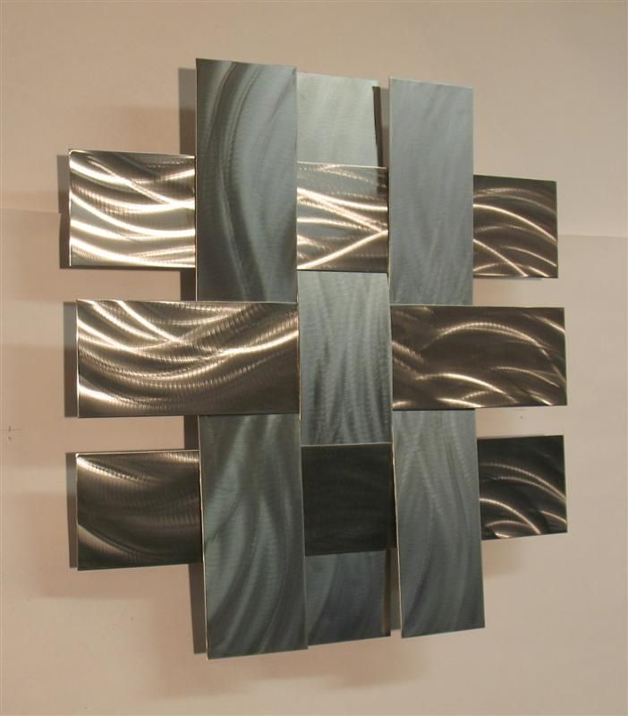 Contemporary metal wall art sculpture stainless 14s for Contemporary wall art
