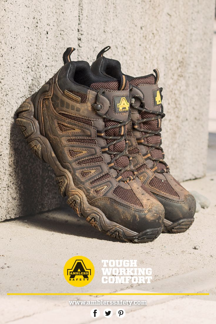 AS801 Rockingham. Hiker Style Safety Boot. Comfortable. Metal Free. Memory Foam Footbed. Flexible underfoot protection. Composite toe. Composite midsole. Waterproof.  Temperature resistant sole.