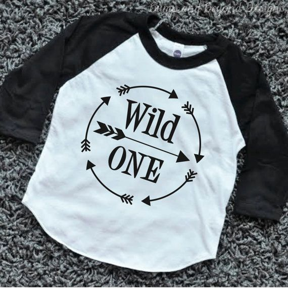 Wild One First Birthday Shirt Boy 1st Birthday Outfit Arrow Hipster Raglan Boy Clothes by BumpAndBeyondDesigns