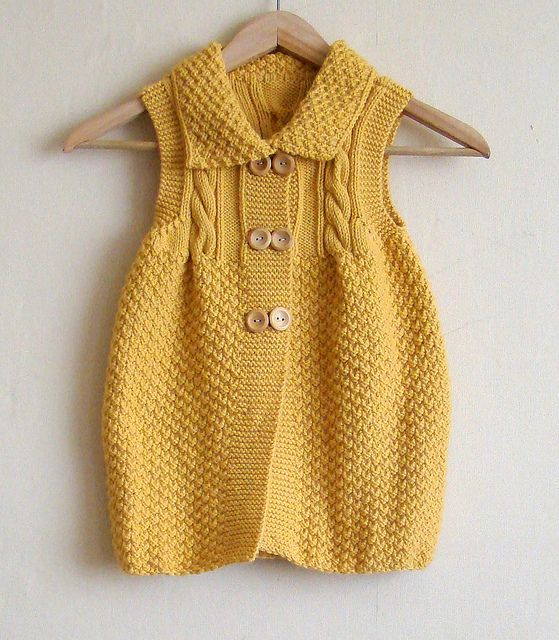 Cable vest tunic for Little M | Flickr - Photo Sharing!