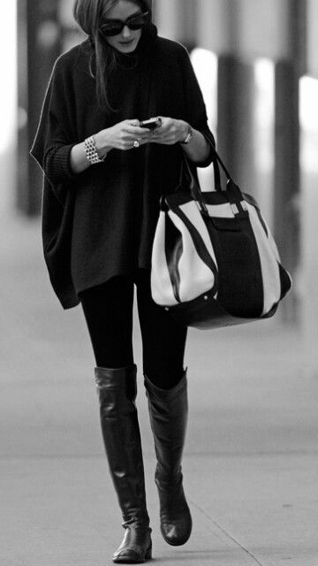 high flat boots, overknee boots, stivali, stiefel, cuissardes, olivia palermo, streetstyle outfit