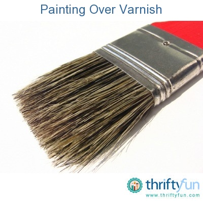 this guide is about painting over varnish preparing a varnished wood. Black Bedroom Furniture Sets. Home Design Ideas