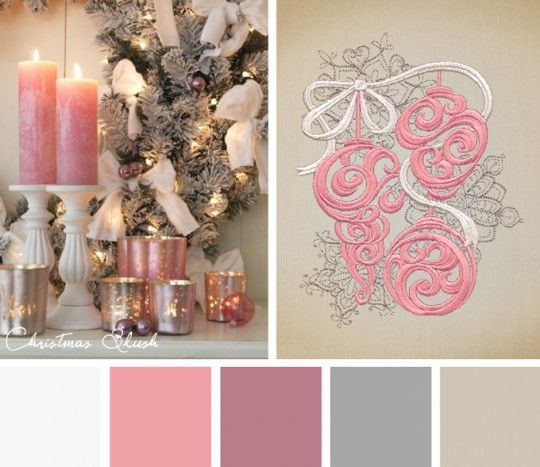 Bring a different spin to your holiday designs with this Christmas Blush color inspiration.