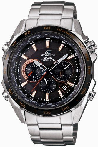 Casio EDIFICE Orange Arrow Series – Solar Tough MVT – Multiband 6 Radio Controlled Men's Watch EQW-T610DB-1A5JF (Japan Import) | Your #1 Source for Watches and Accessories