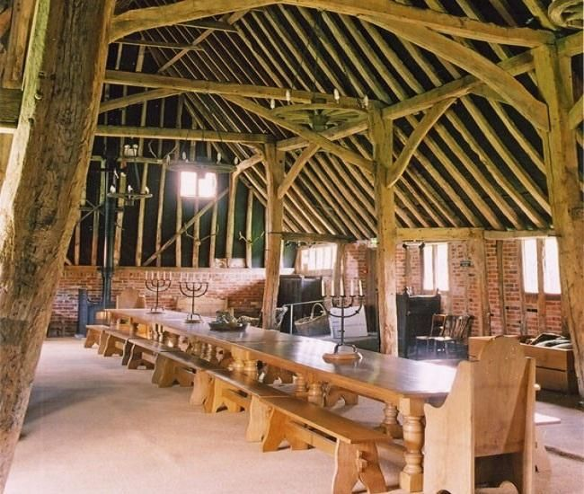 Architecture, Dining Area Barns Timber Framing Frame Plans