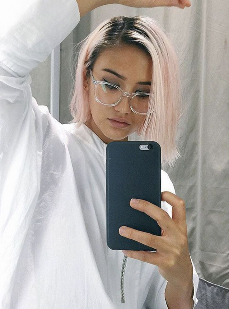 All The Haircuts I Want But Will Never Get  #refinery29  http://www.refinery29.com/celebrity-haircuts-short-colour#slide-1  Erika Bowes is a stylist and Instagram hit that I see around at Fashion Weeks and events. She's had white, silver, and lilac hair and this beautiful shade of pale pink. I particularly like the black roots and the grungy, Kurt Cobain vibe. ...