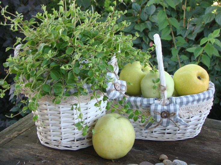 white baskets - lovely