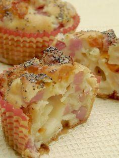 Muffin salati al formaggio e prosciutto - Pane e Cioccolato