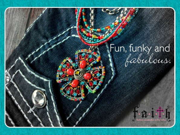Tuscon Medallion Necklace $88, shown with Tuscon Stretchy Necklaces for an additional cost. Available from your favorite FAITH Consultant or at www.faithco.net.: Favorit Faith, Faith Jewelry, Fabulously Faith, Www Faithco Net, Faith Consultant