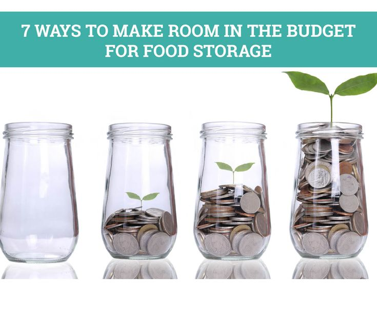7 Amazing Ways to Make Room in Your Budget for Food Storage
