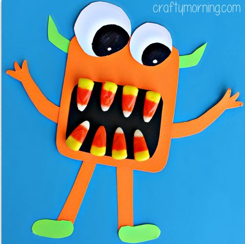 candy corn monster craft for halloween