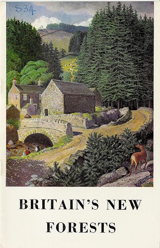 Britain's New Forests - Forestry Commission booklet, 1973 - cover by Charles Tunnicliffe RA