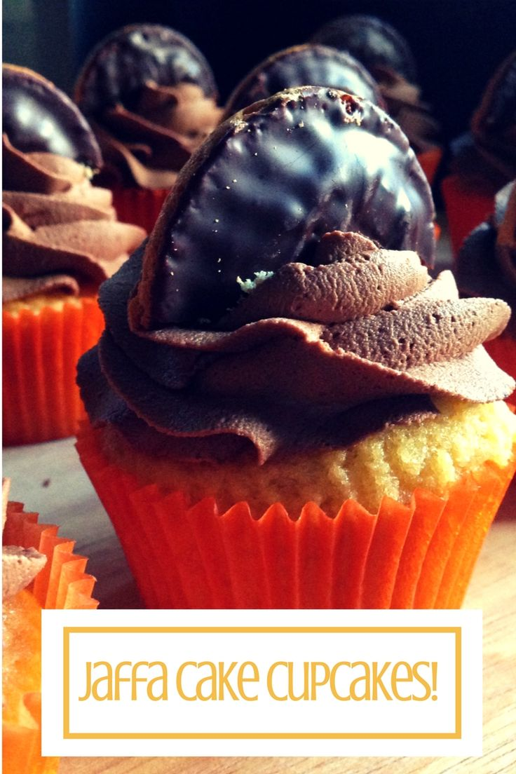 Jaffa Cake Cupcakes, just like the UK's favourite chocolate orange biscuit...or is it a cake?